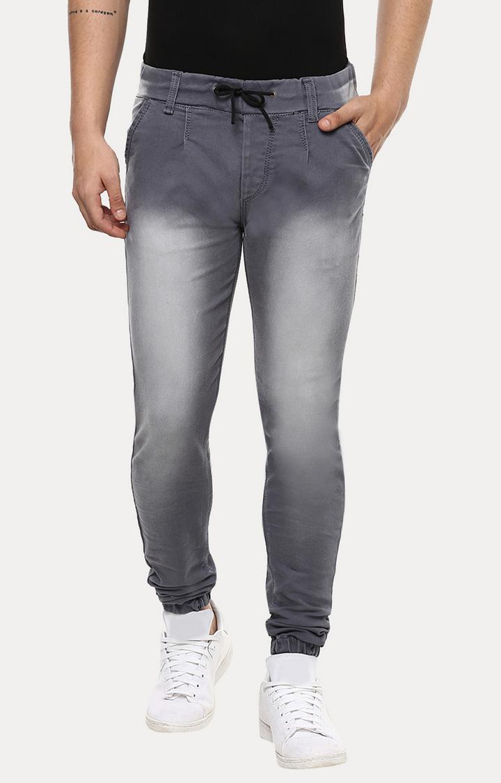 Urbano Fashion | Grey Solid Joggers