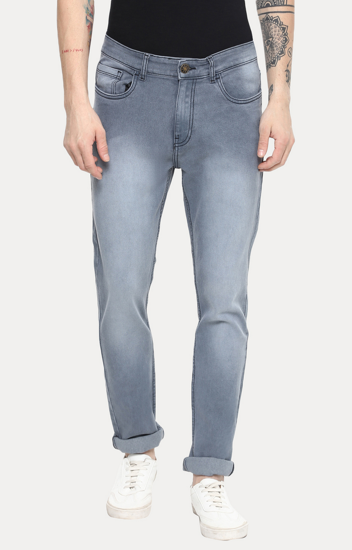 Urbano Fashion | Grey Slim Fit Stretch Jeans