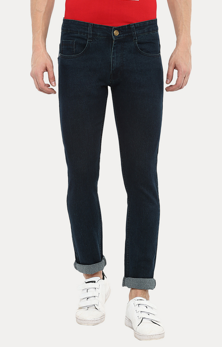 Urbano Fashion | Green Solid Straight Jeans