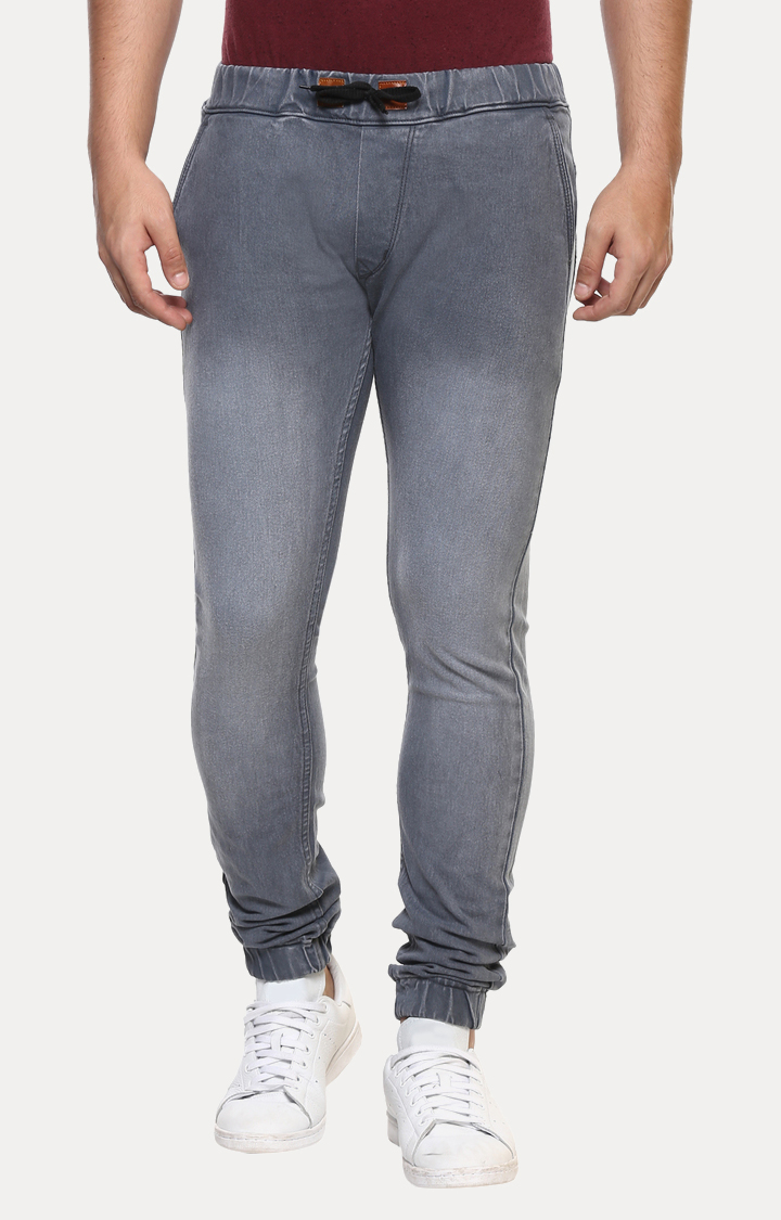 Grey Solid Joggers