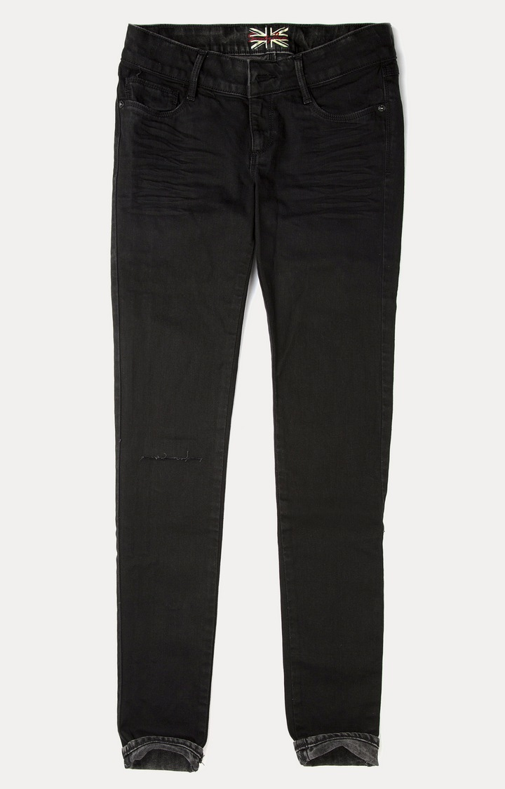 Pepe Jeans | Black Solid Straight Jeans