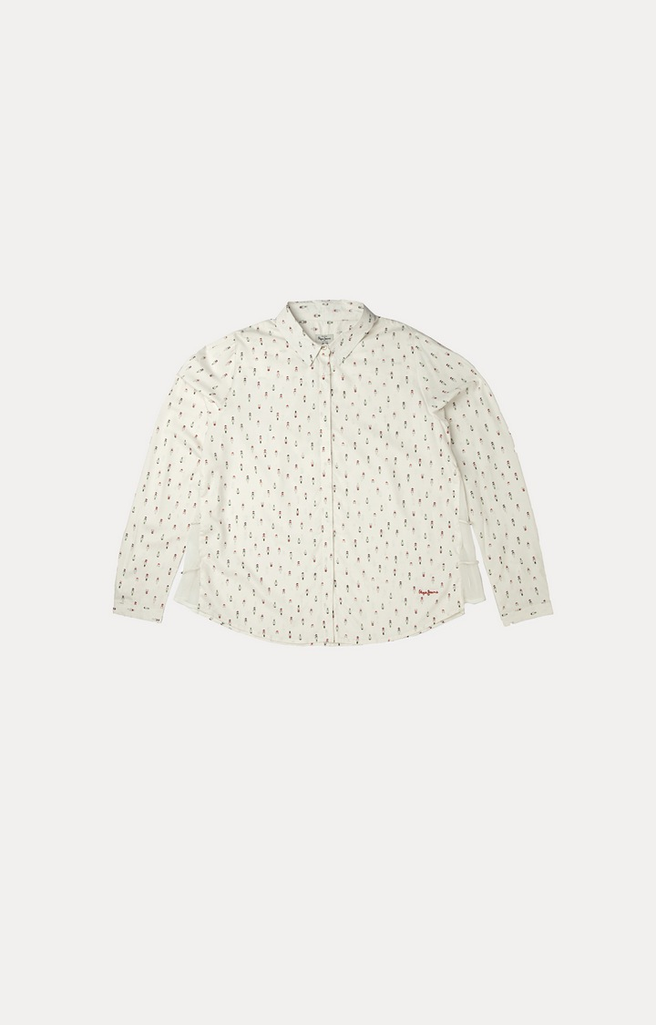 Pepe Jeans | White Printed Casual Shirts
