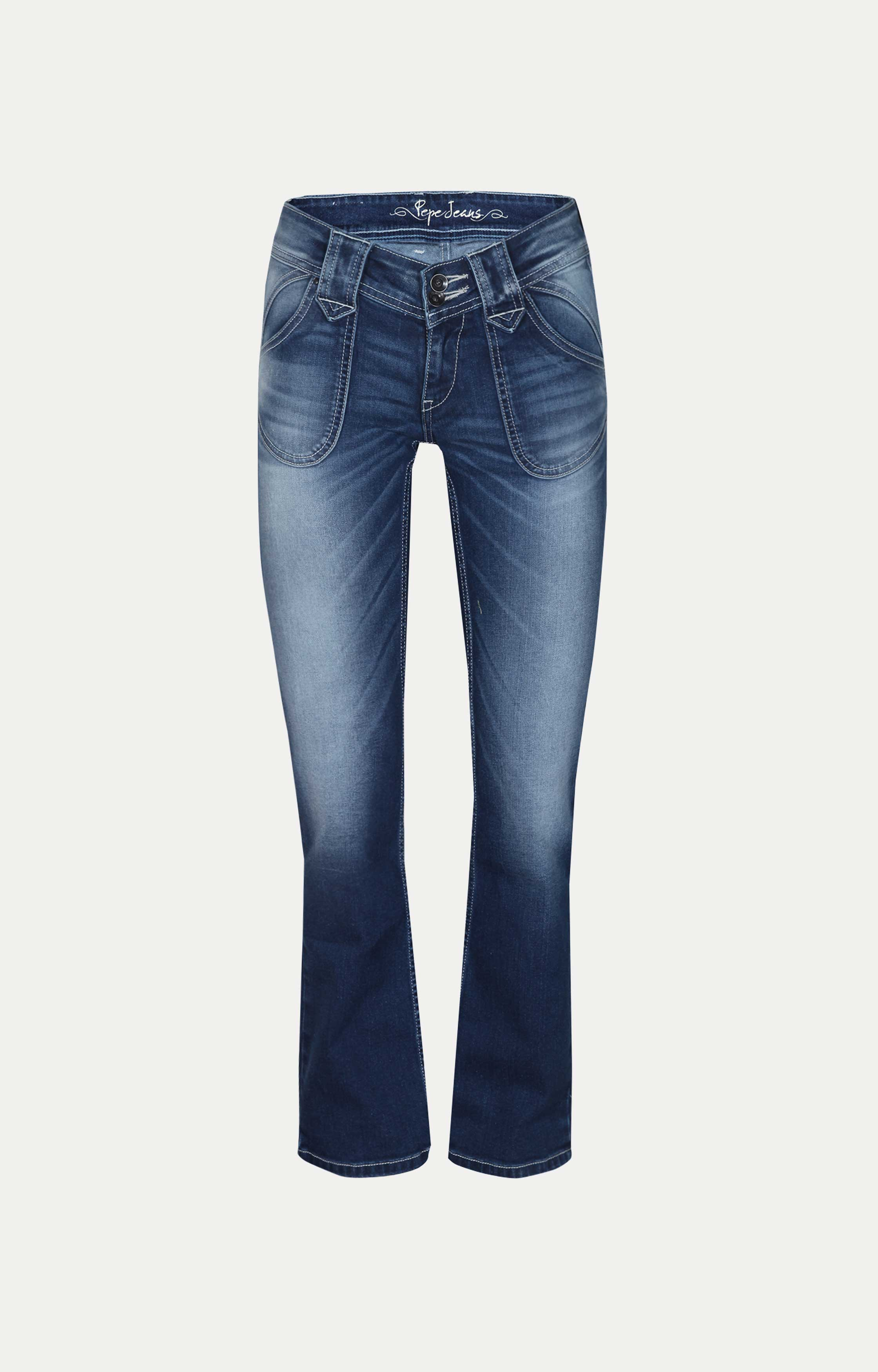 Pepe Jeans | Blue Solid Flared Jeans
