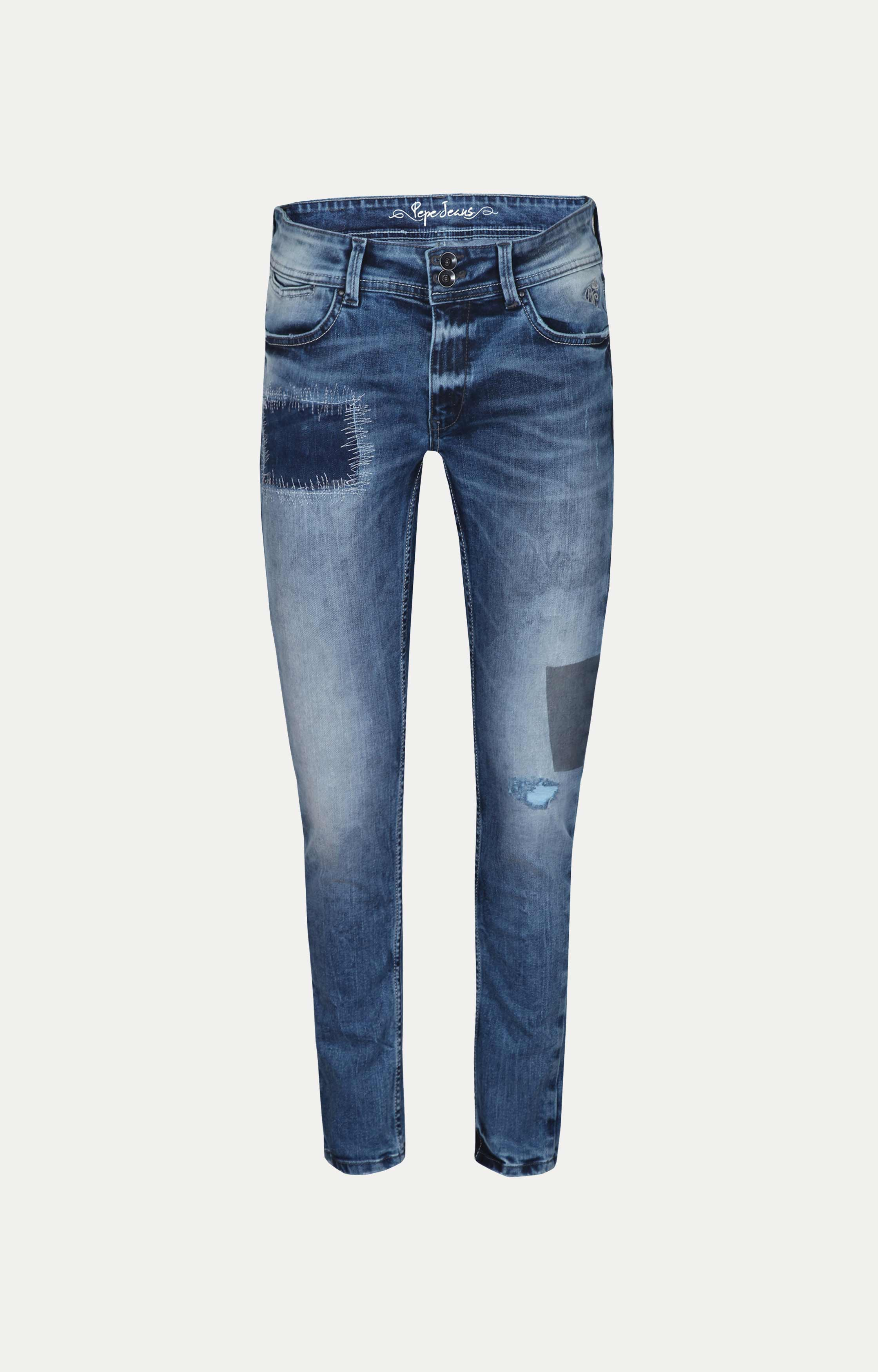 Pepe Jeans | Blue Solid Tapered Jeans