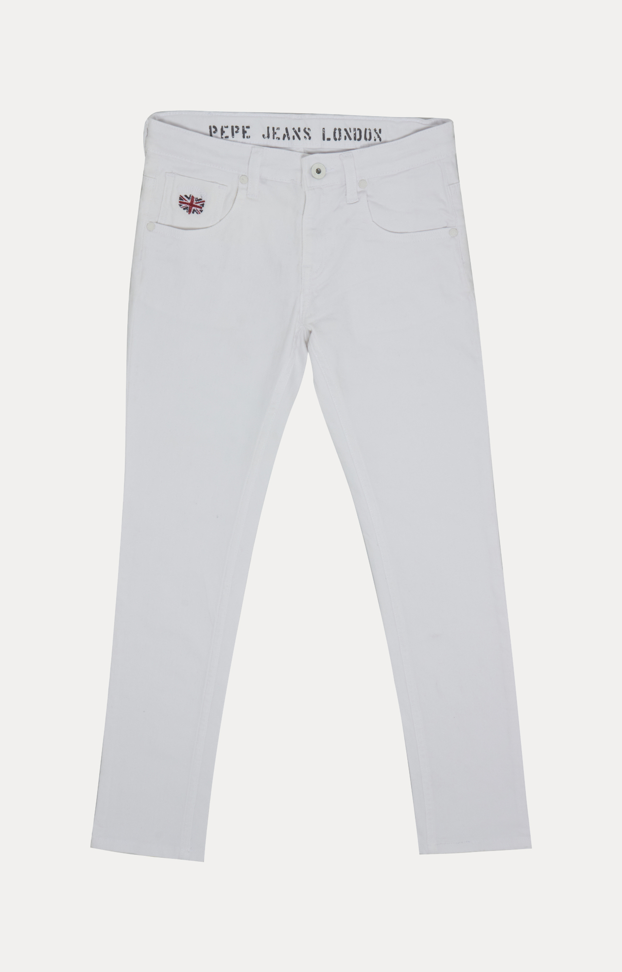 Pepe Jeans | White Solid Jeans