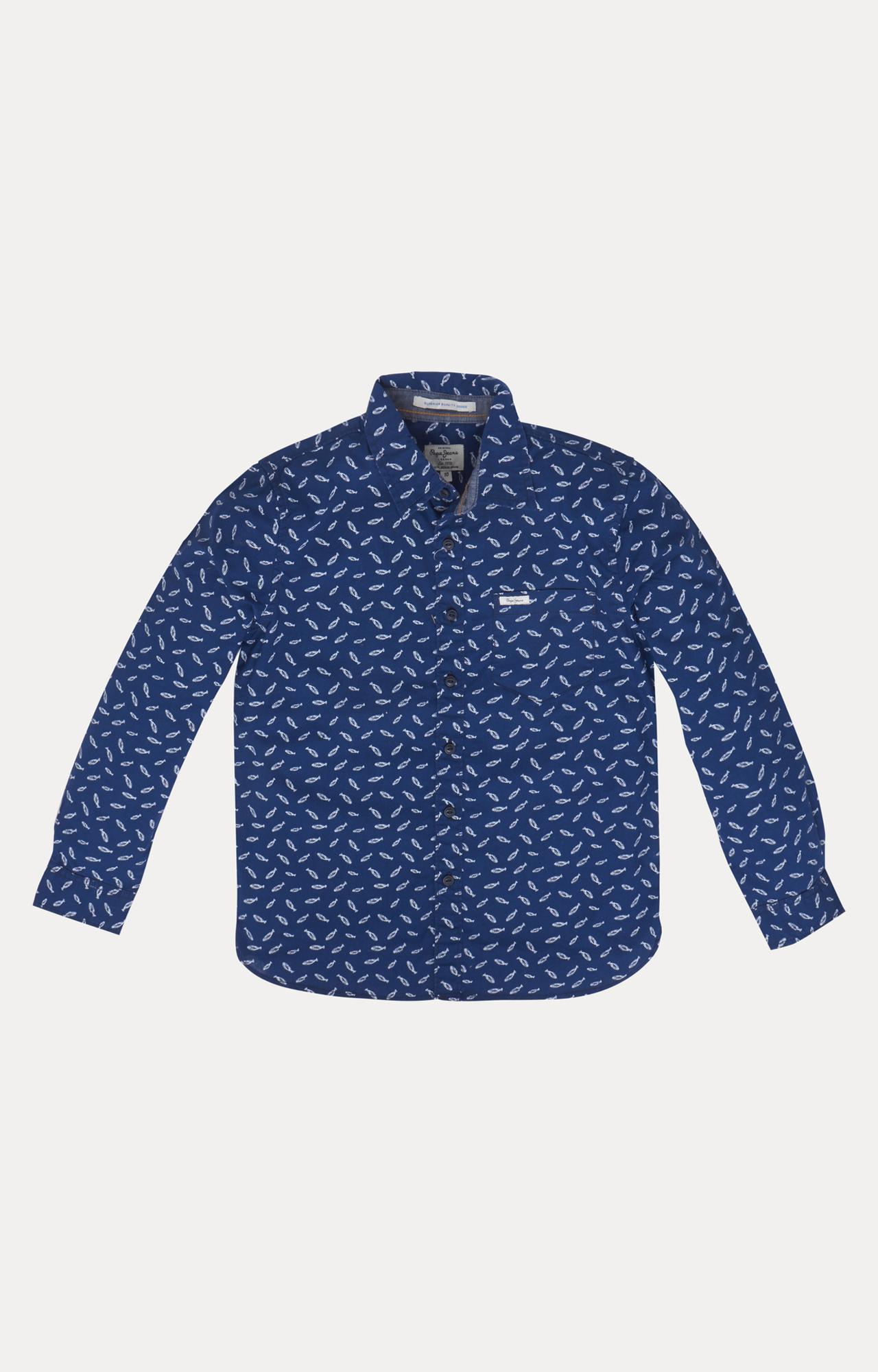Pepe Jeans   Blue Printed Shirt
