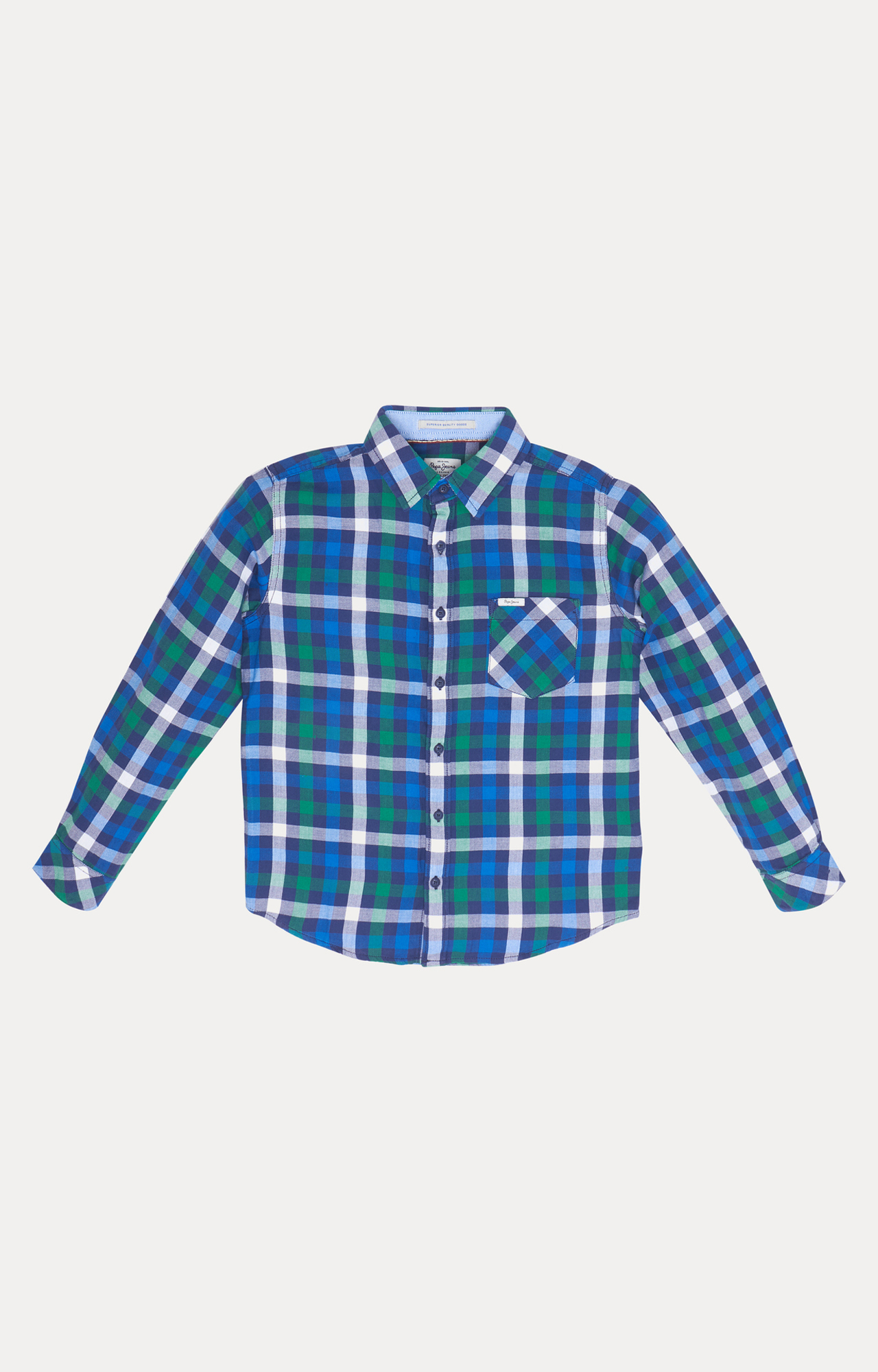 Pepe Jeans   Blue Checked Shirt