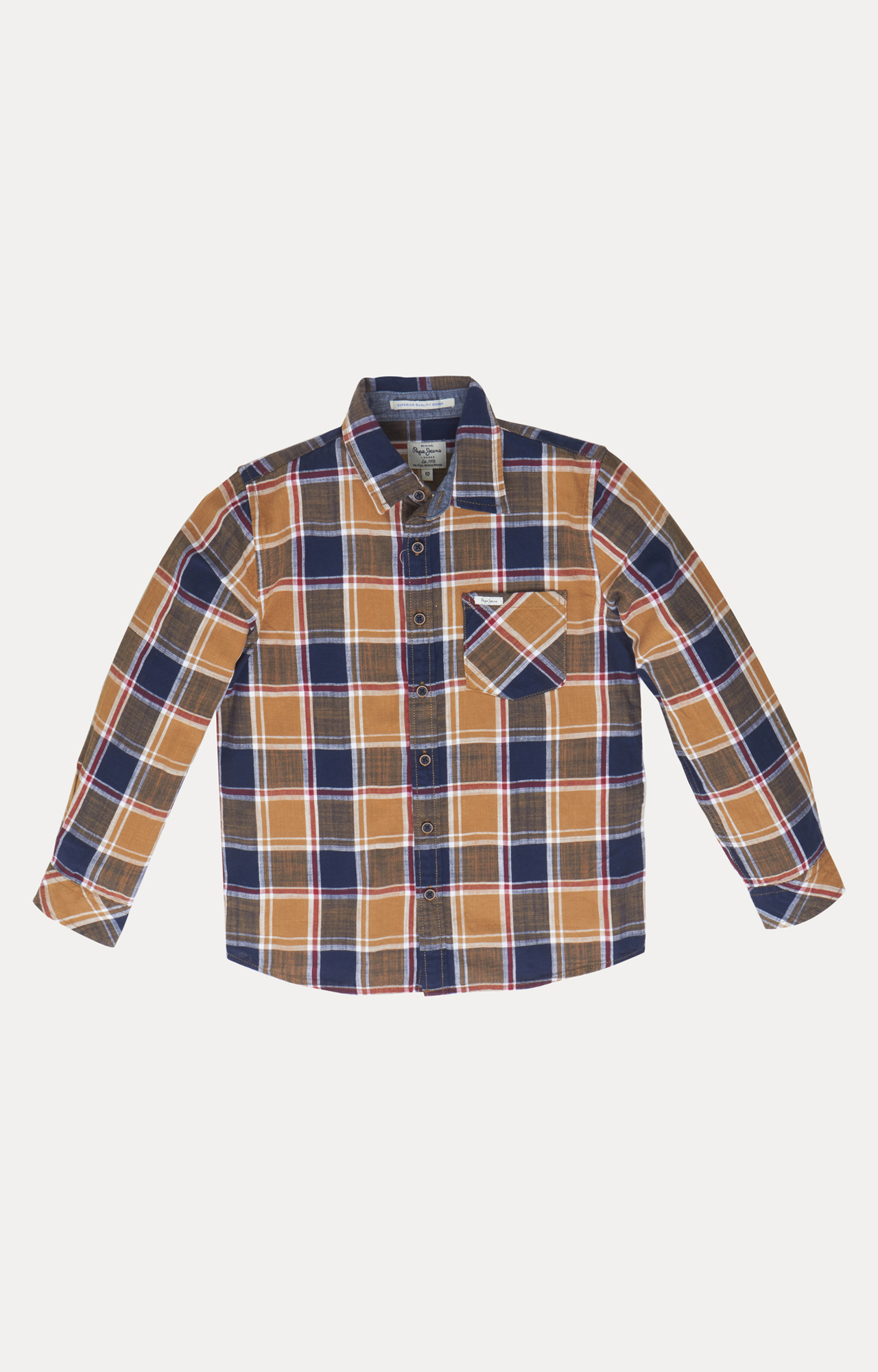 Pepe Jeans | Brown and Blue Checked Shirt