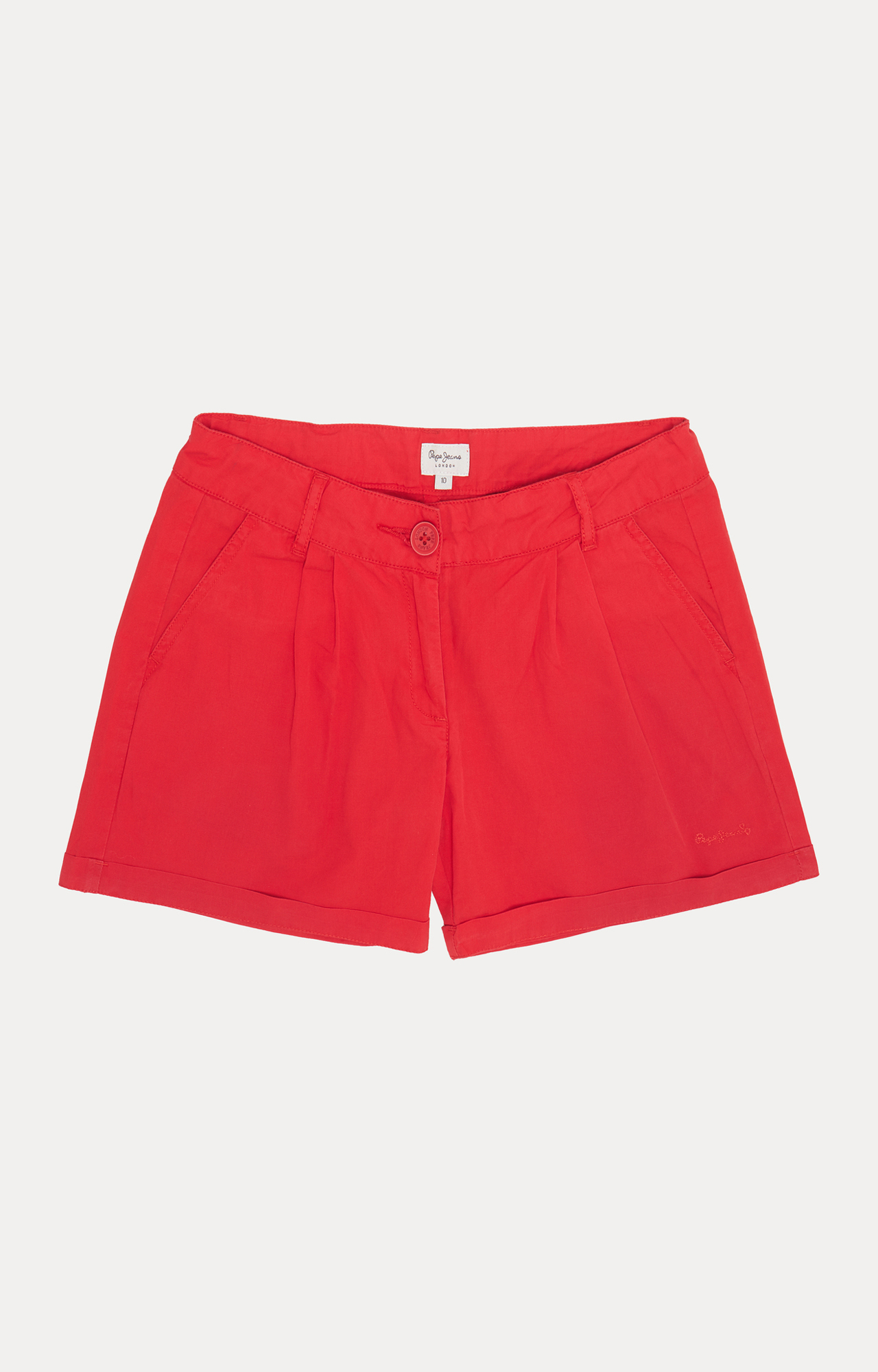 Pepe Jeans | Red Solid Shorts