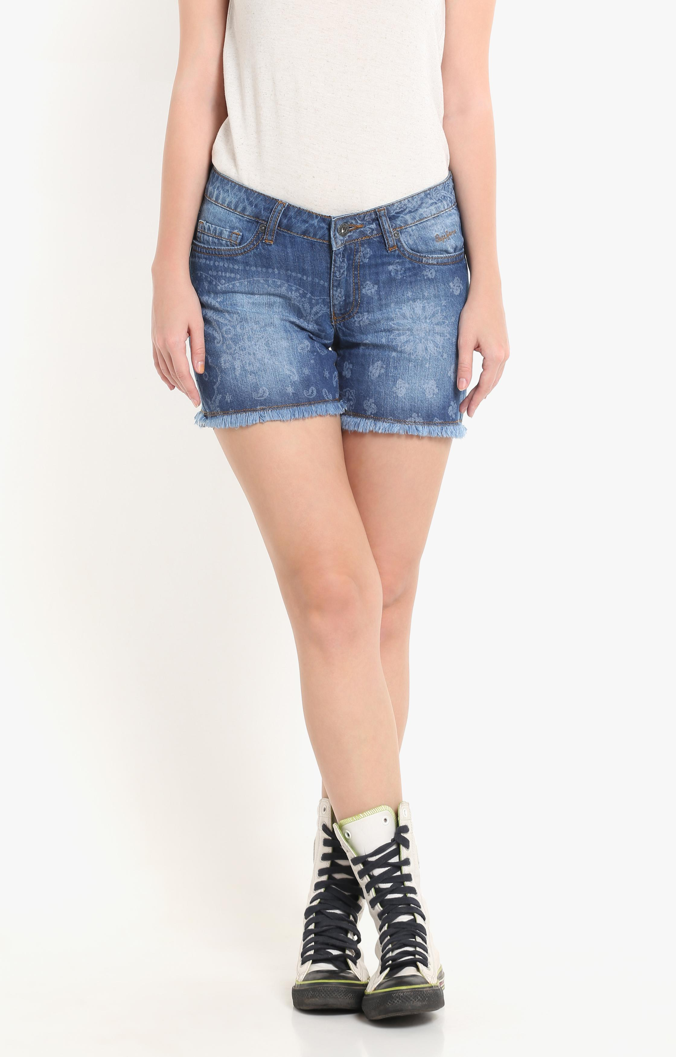 Pepe Jeans   Blue Solid  Shorts