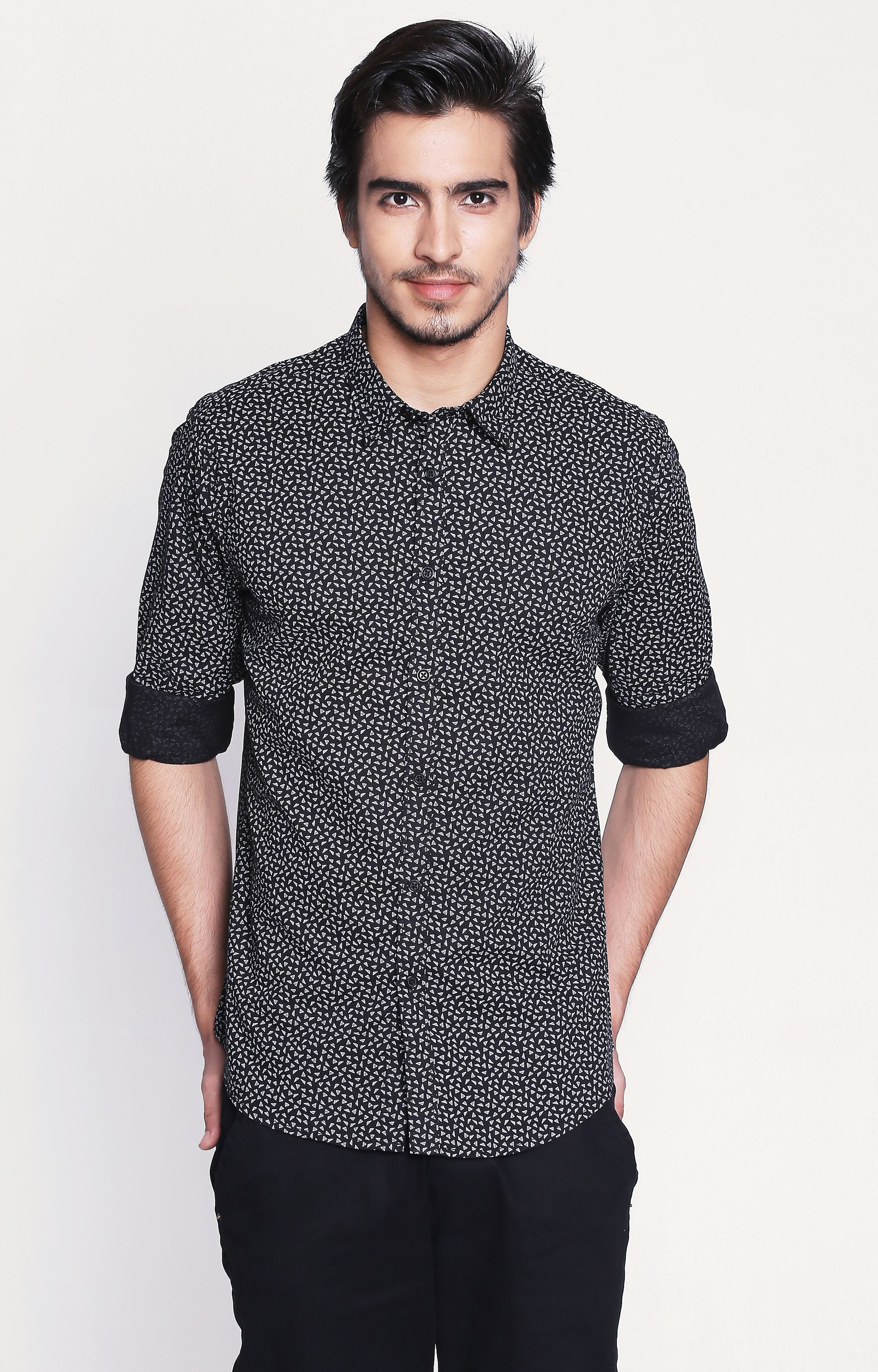 Pepe Jeans | Black Printed Casual Shirt
