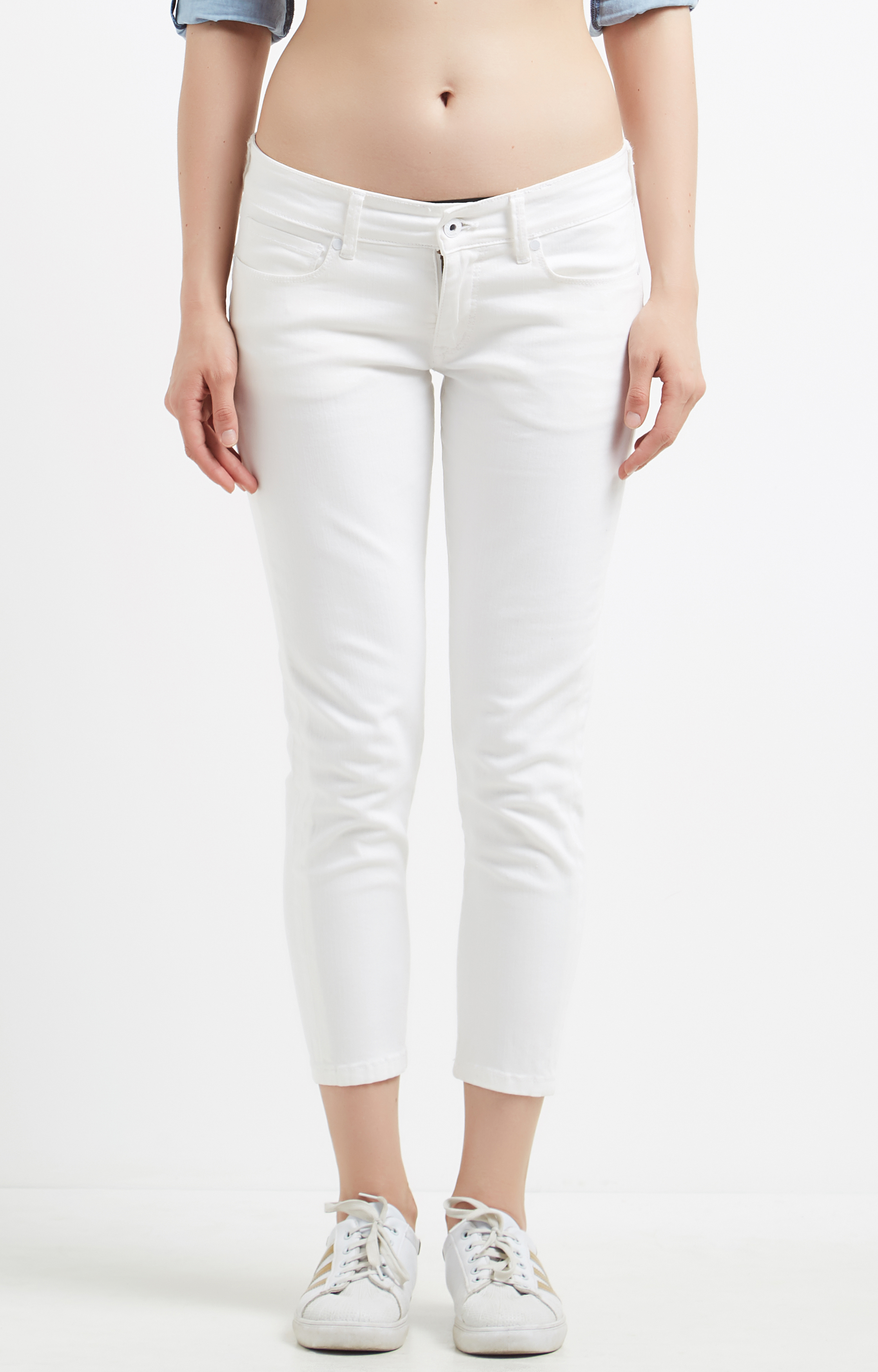 Pepe Jeans   White Cropped Jeans
