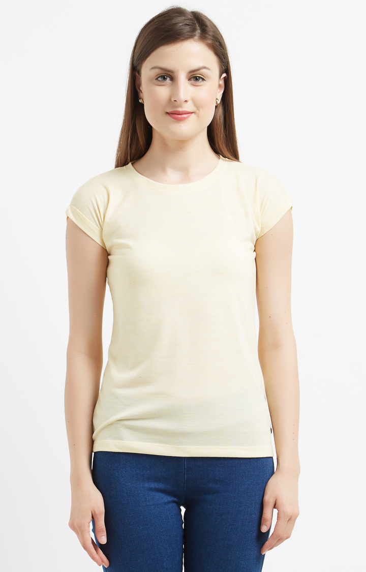 Pepe Jeans   Light Yellow Solid T-Shirt