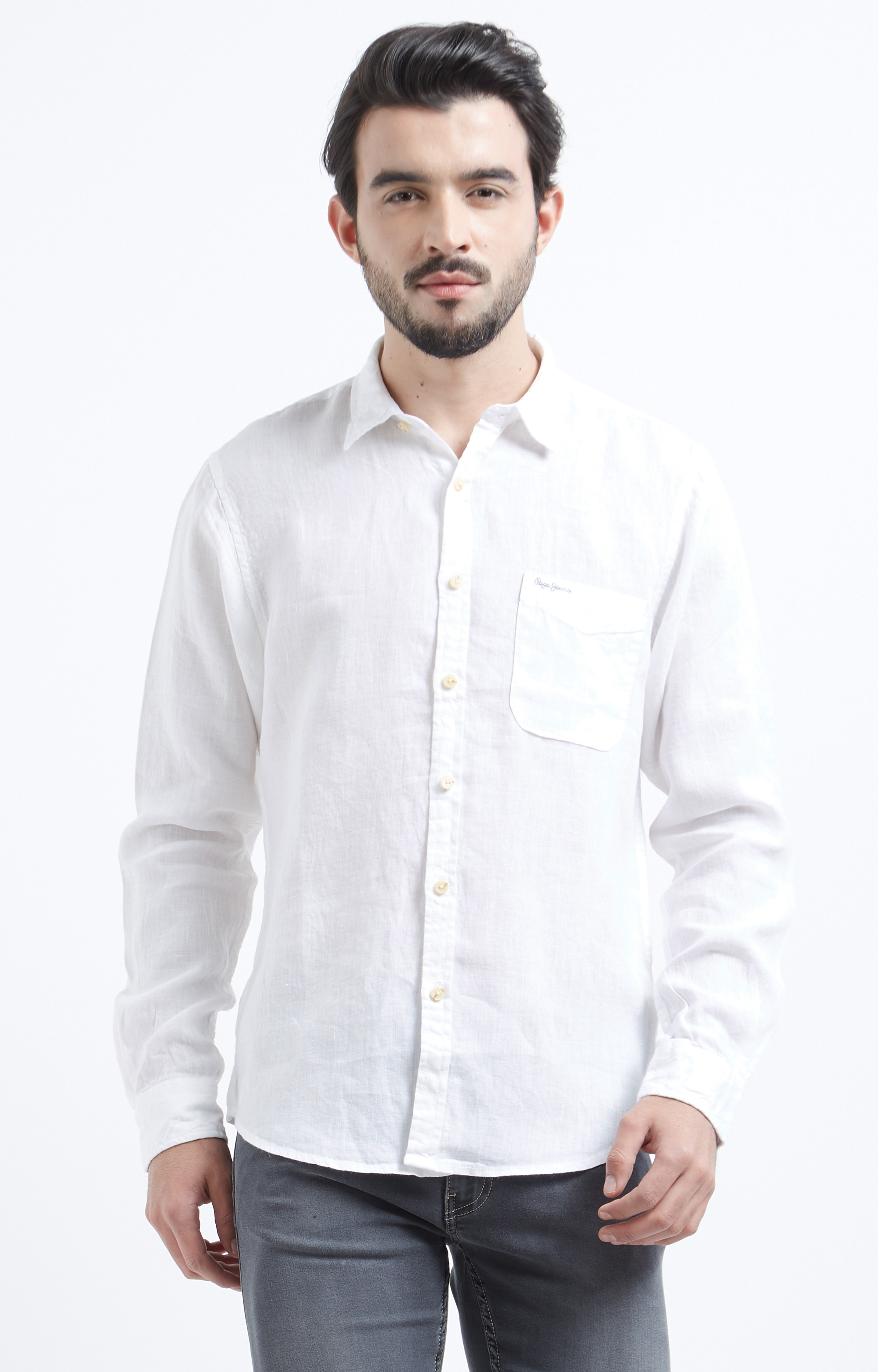 Pepe Jeans | White Solid Casual Shirt