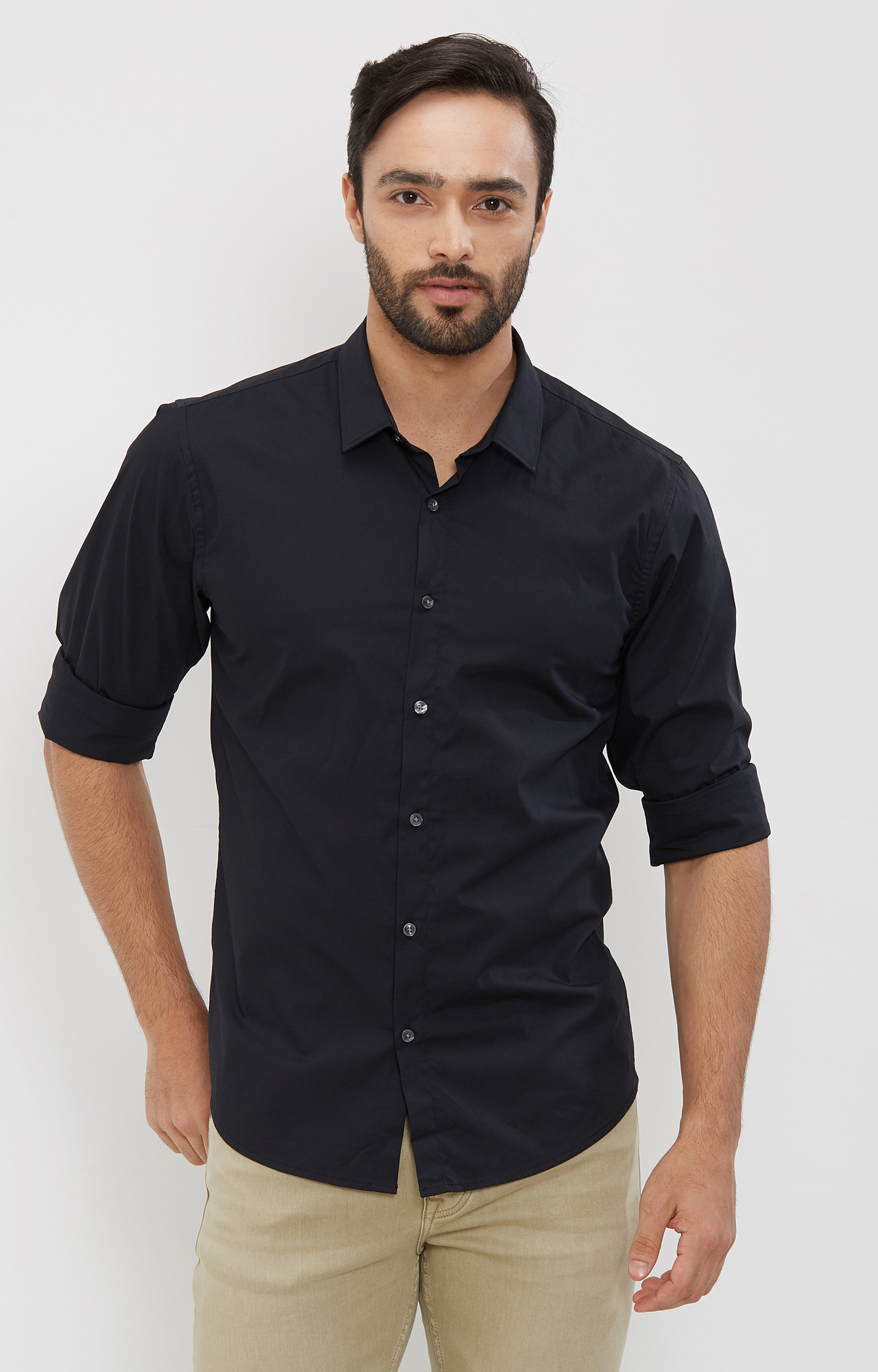 Pepe Jeans | Black Solid Casual Shirt
