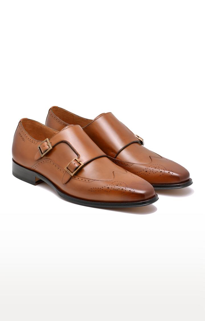 Ruosh   Tan Monk-strap Shoes