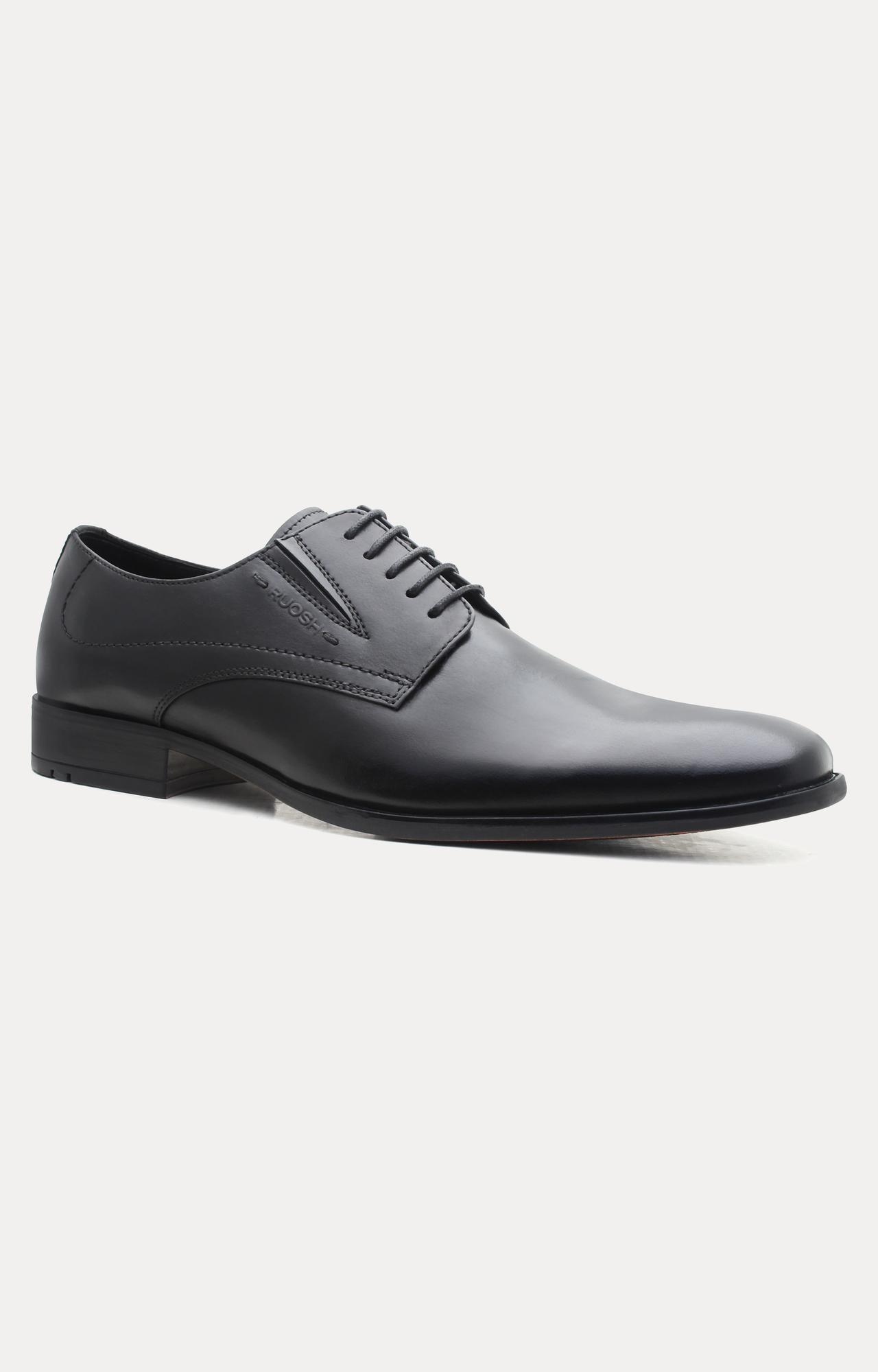 Ruosh | Black Derby Shoes