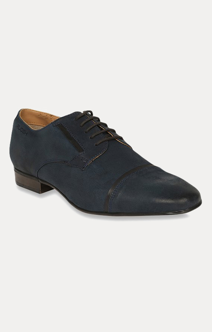 Ruosh | Navy Blue Derby Shoes