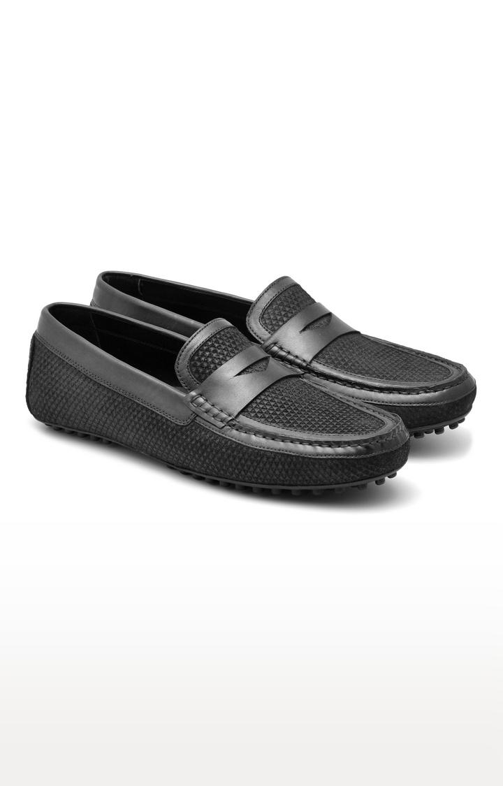 Ruosh | Black Casual Slip-ons