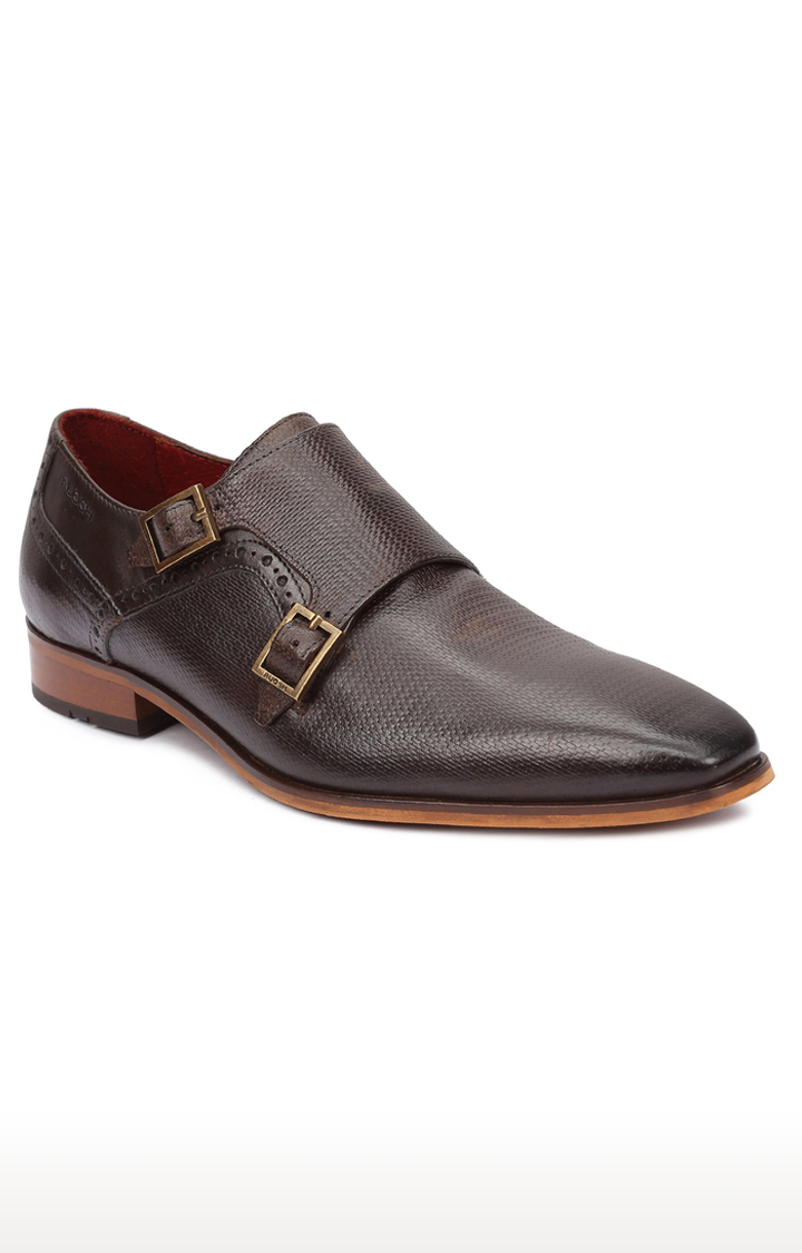 Ruosh | Brown Monk-strap Shoes