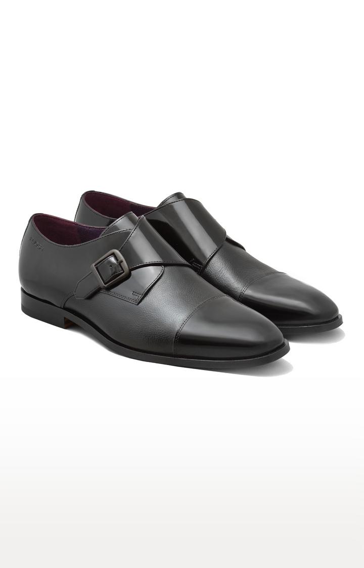 Ruosh | Black Monk-strap Shoes