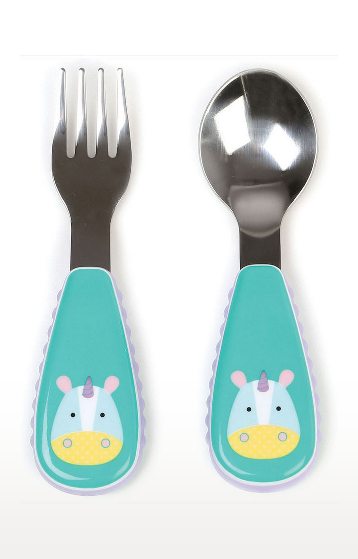 Mothercare | Skip Hop Zoo Utensils Fork Spoon - Multi