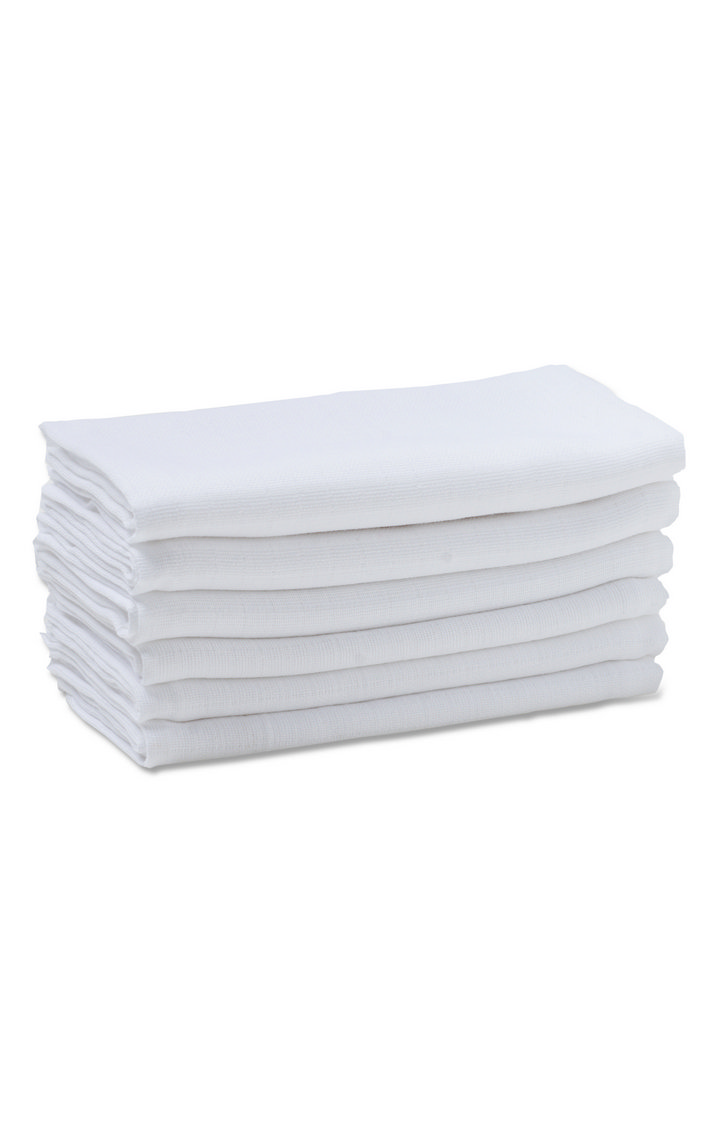Mothercare | White Muslins - Pack of 6