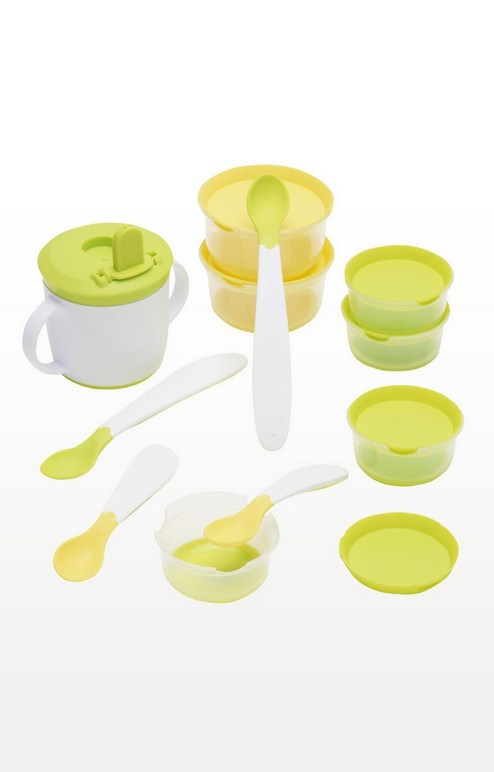 Mothercare | Green and Yellow Stage 1 Weaning Starter Set