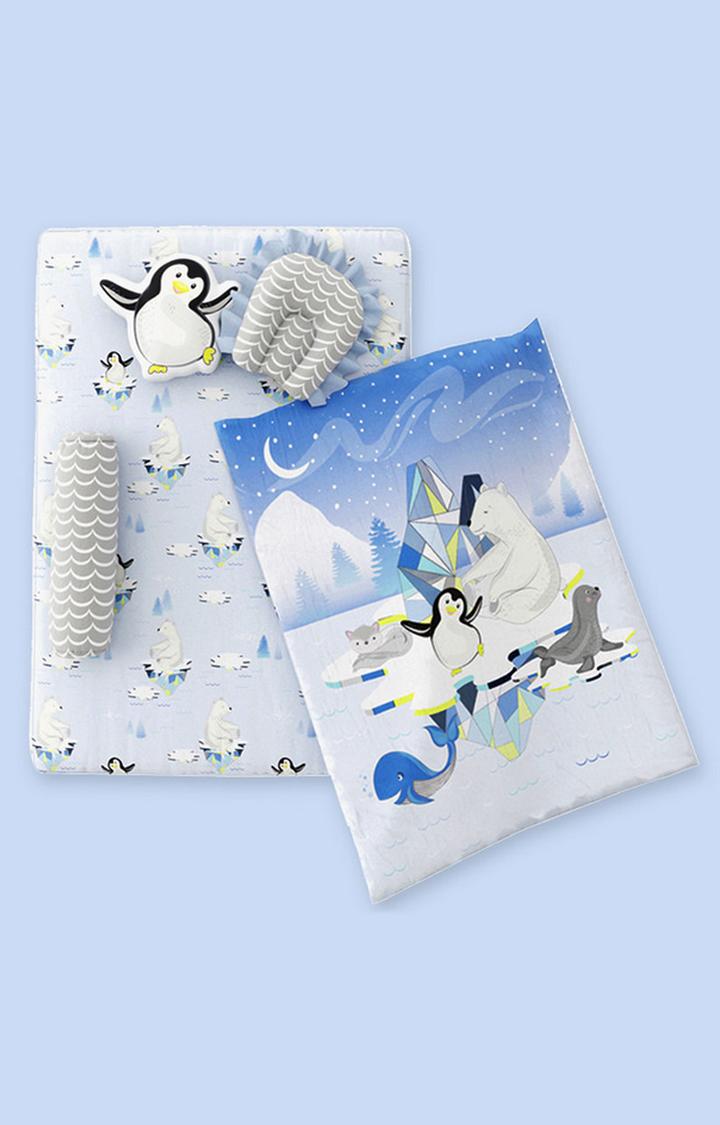 Mothercare | Fancy Fluff 6 Piece Organic New Born Bed Set - Arctic