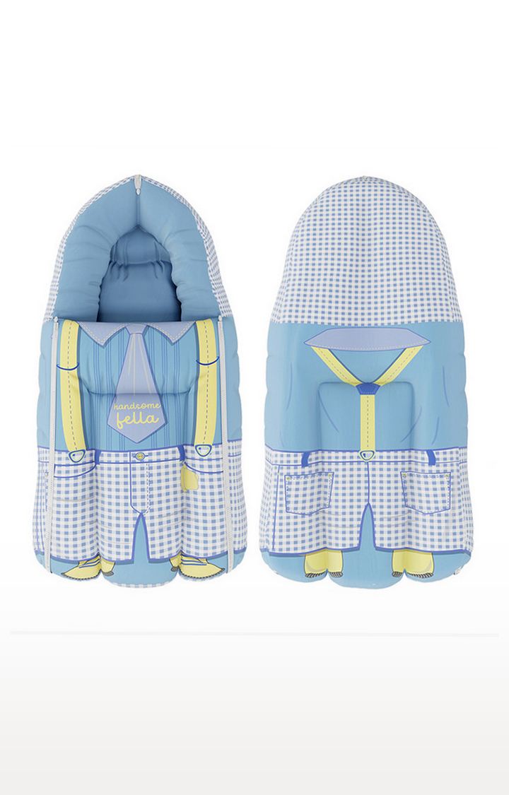 Mothercare | Fancy Fluff Organic Carry Nest - Handsome Fella