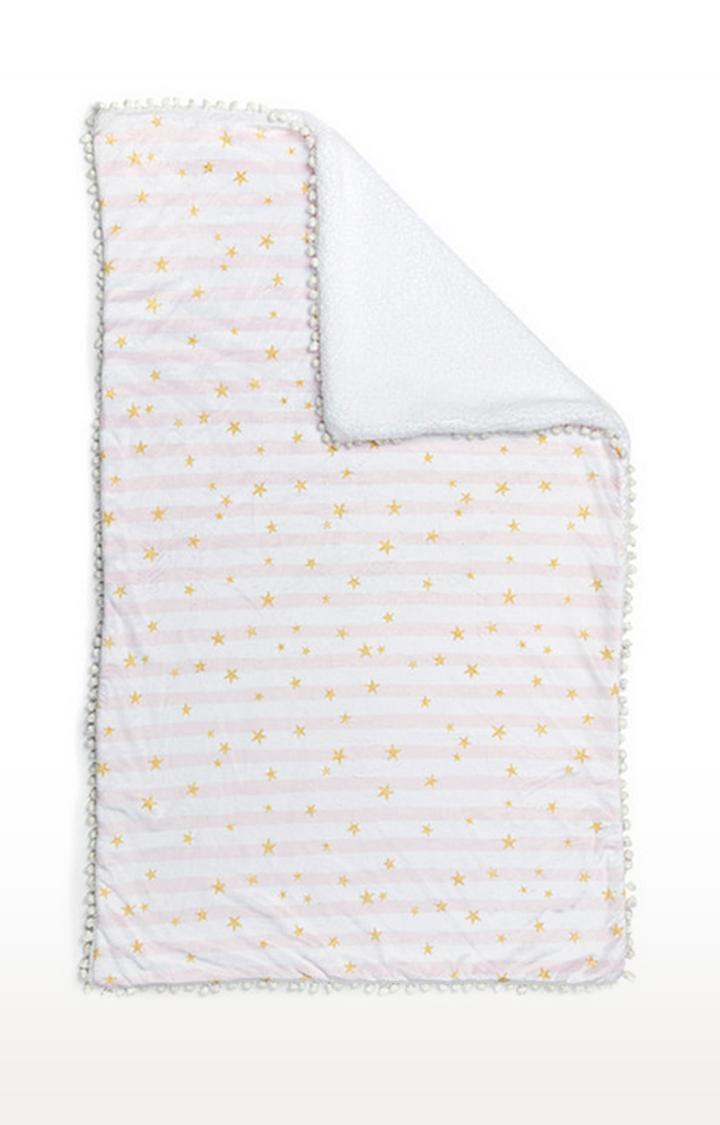 Mothercare | Fancy Fluff Fleece Blanket - Pink Star