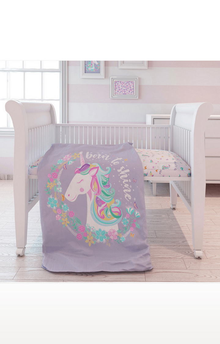 Mothercare | Fancy Fluff 7 Piece Organic Baby Cot Bedding Set - Unicorn