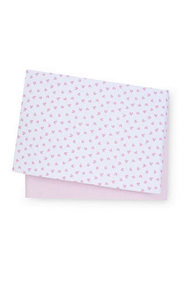 Mothercare | Pink Jersey Cotton Moses Basket and Pram Sheets - Pack of 2