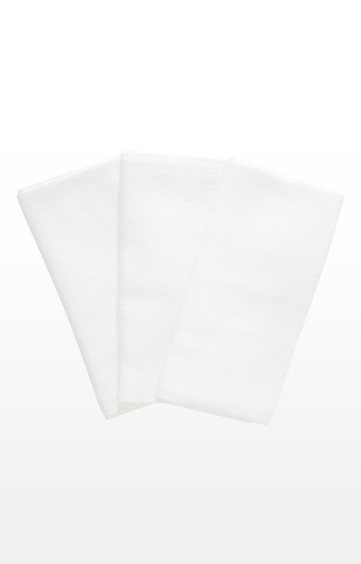 Mothercare | White Xl Muslins - Pack of 3