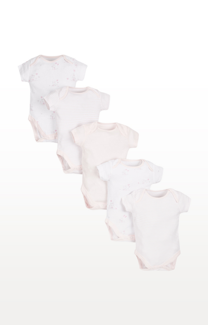 Mothercare | Pink Bodysuits - 5 Pack