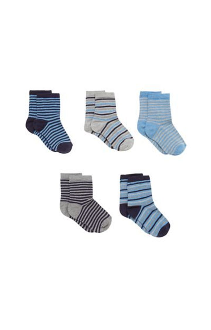 Mothercare | Multicoloured Striped Socks - Pack of 5