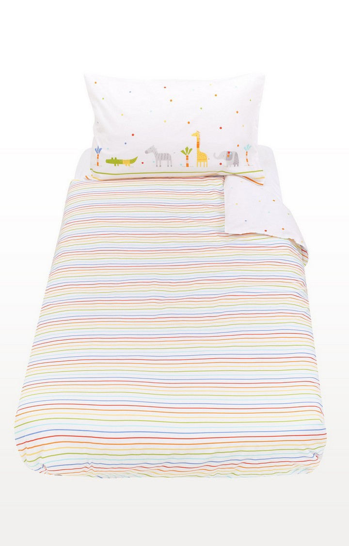 Mothercare | Multicoloureded Hello Friend Cot Bed Duvet Set