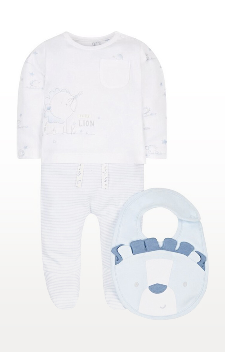 Mothercare | White Printed My First 3 Piece Set