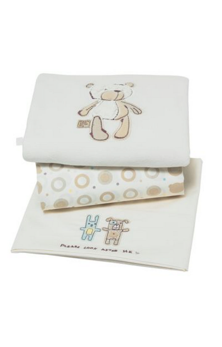 Mothercare | Beige Printed Bedding - Set of 3