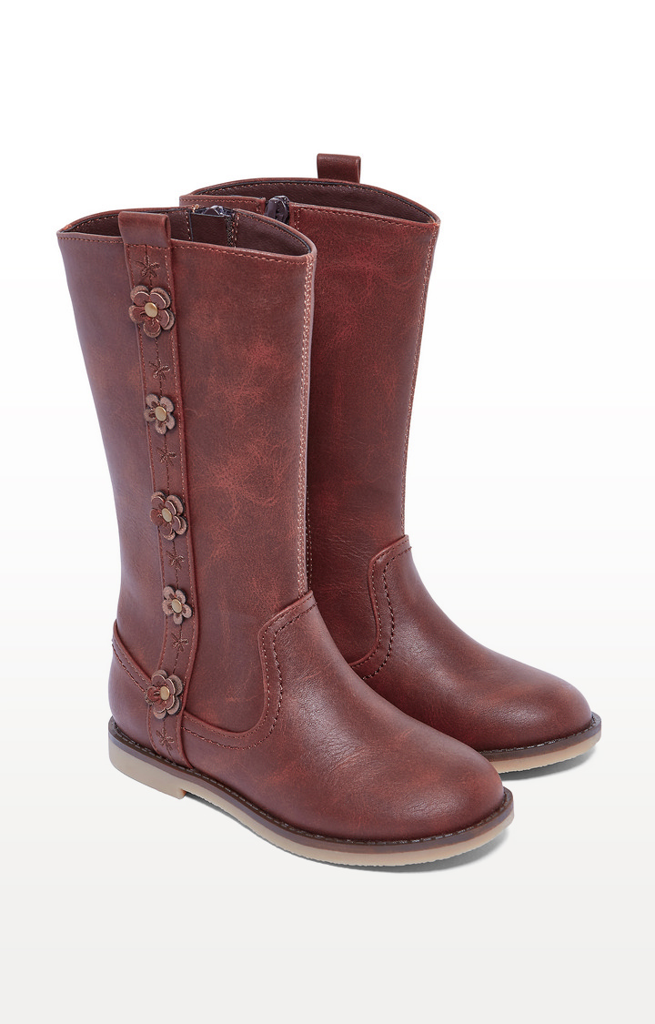 Mothercare   Brown Corsage High-Leg Boots