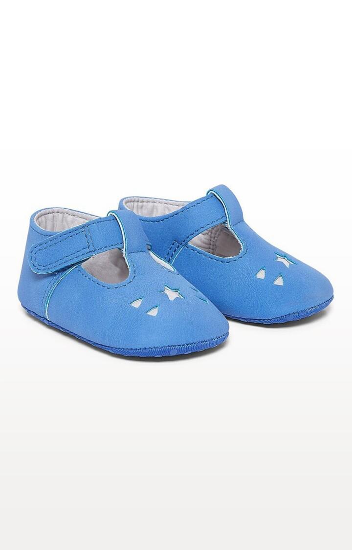 Mothercare | Blue Printed Star T-Bar Pram Shoes