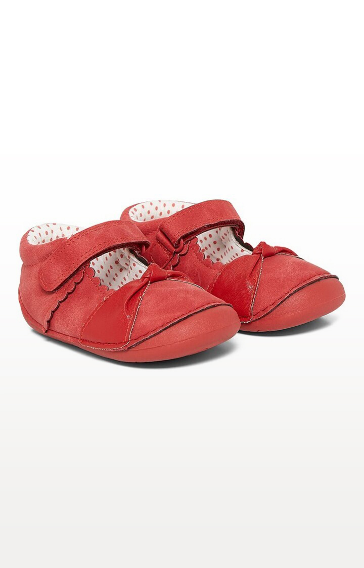 Mothercare | Red Printed Red Knot Crawler Shoes
