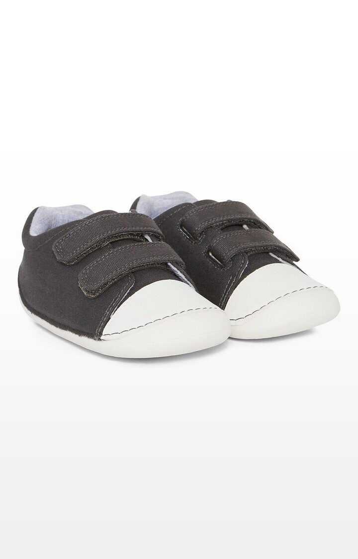 Mothercare | Grey Canvas Crawlers