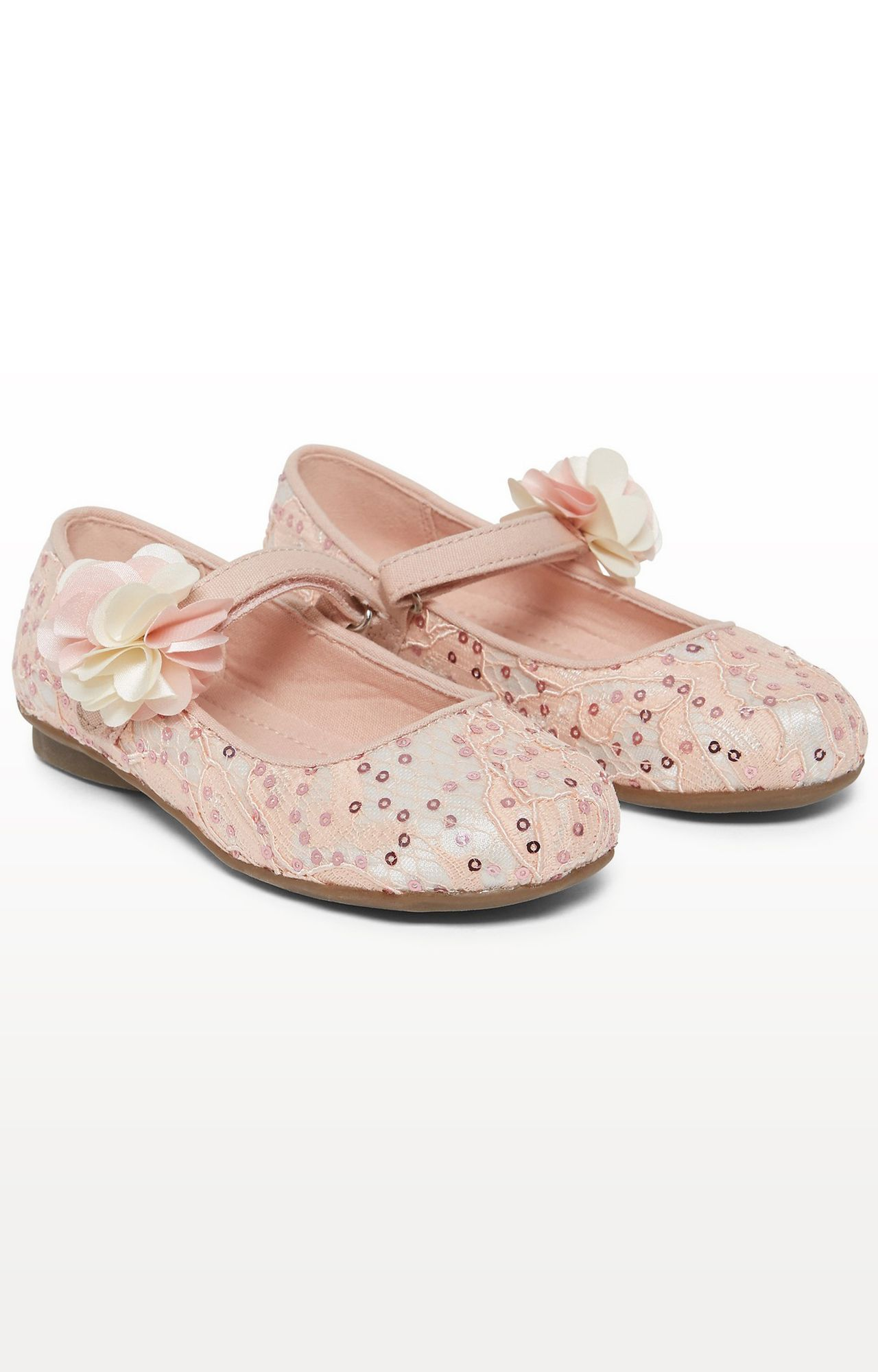 Mothercare | Pink Lace Ballerina Shoes