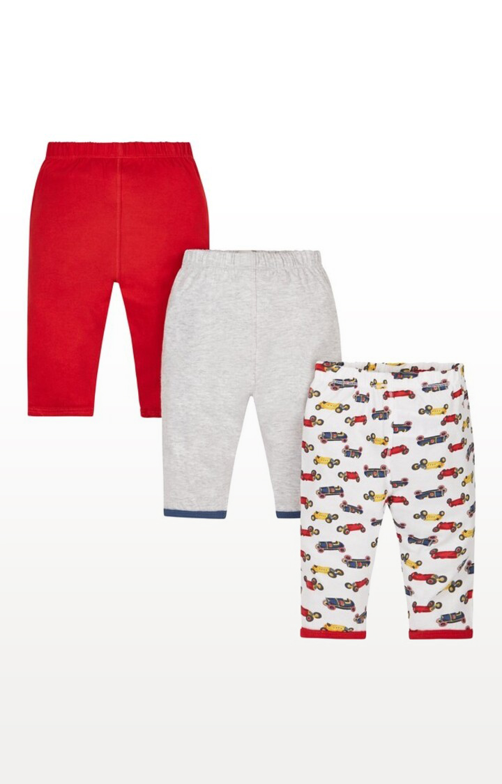Mothercare | Black & White Printed Colourful Pyjamas - Pack of 3