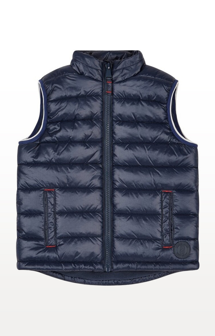 Mothercare | Navy Printed Padded Gilet