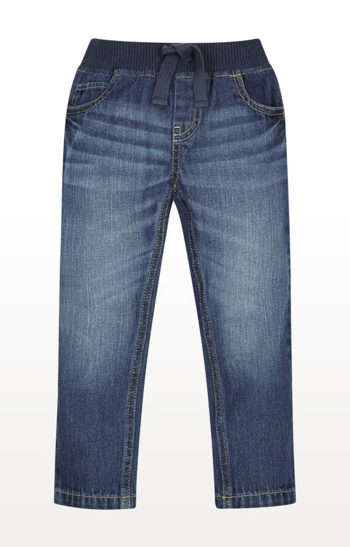 Mothercare   Denim Printed Rib-Waist Jeans