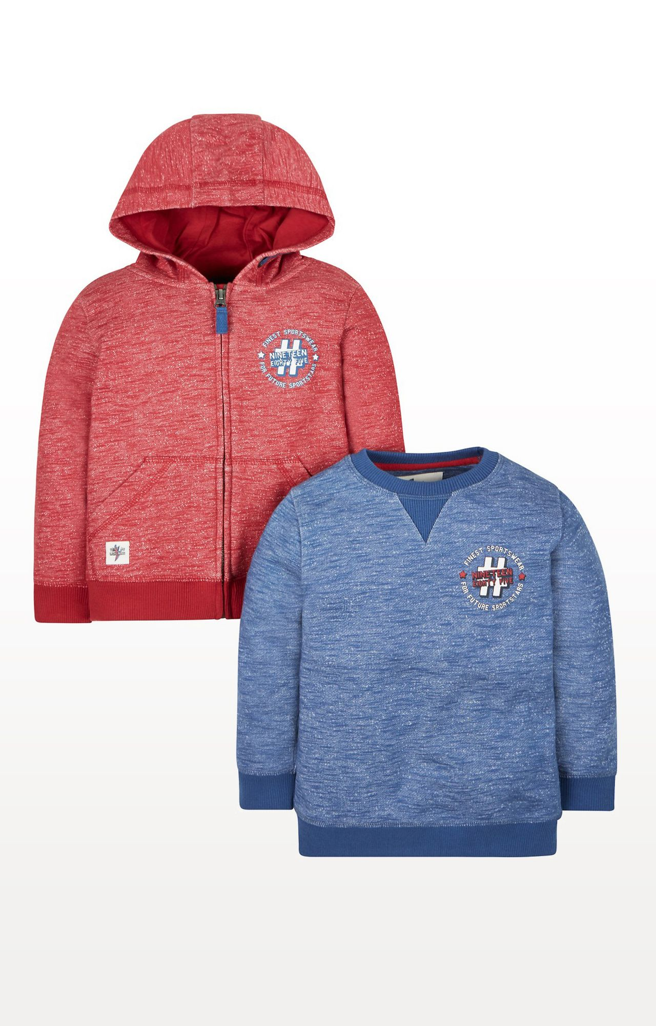 Mothercare | Sporty Hoody and Sweat Top - Pack of 2