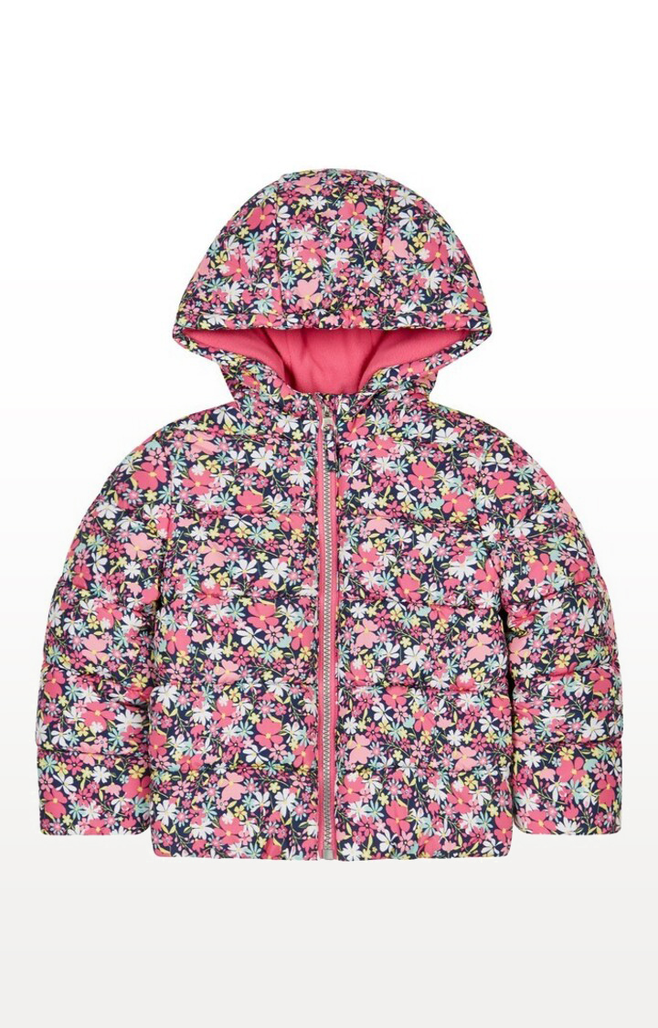 Mothercare | Multicoloured Floral Padded Coat