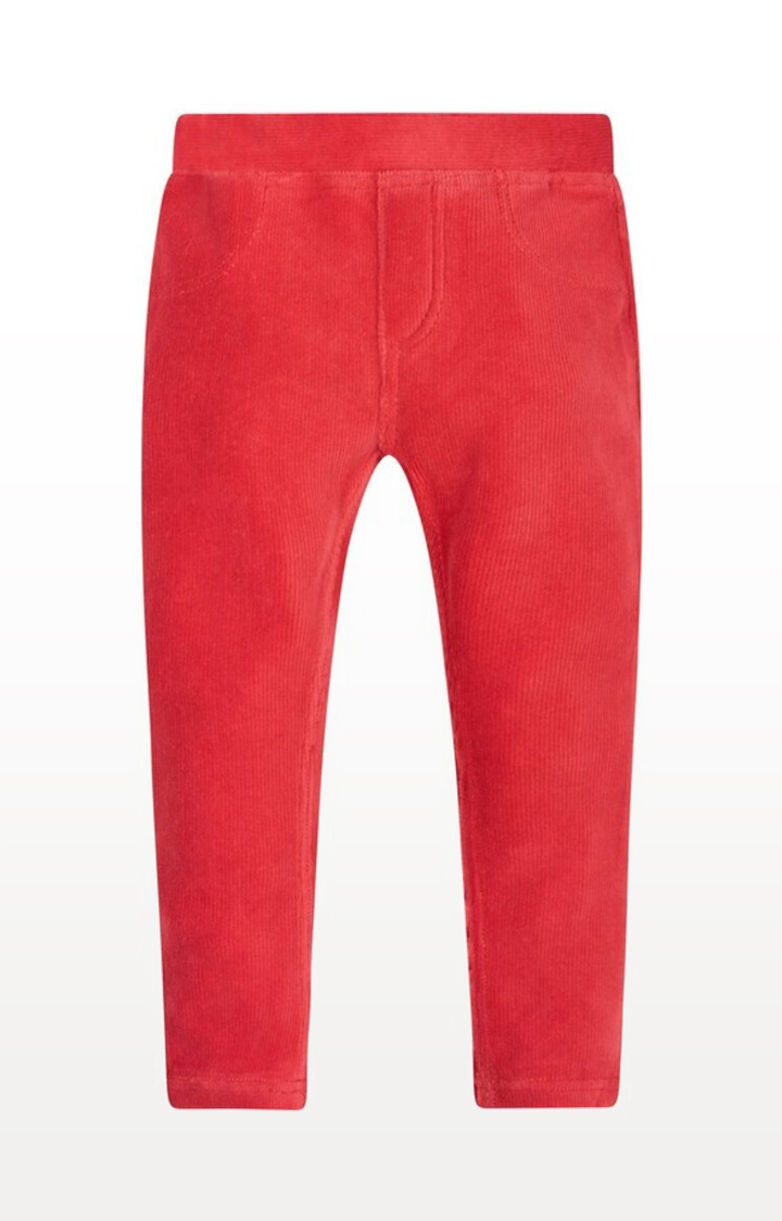 Mothercare   Red Solid Velour Jeggings